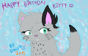 Happy(early)birthday Kitty! by cottoncloudyfilly
