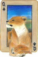 Queen of Clubs: The Lioness by KefiraDalila