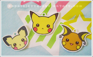 Pikachu's Charm Set by drill-tail
