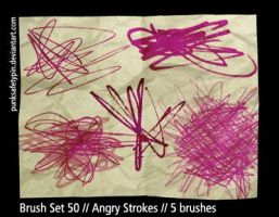 Brush Set 50 - Angry Strokes by punksafetypin