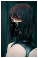 Black leather respirator by djorgensen