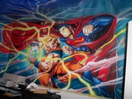 GOKU AND SUPERMAN BEDROOM by dokimion