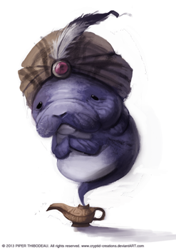 DAY 291. Manatee Genie by Cryptid-Creations