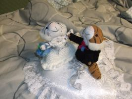 Bride and Groom Plushies by ShadowOrder7