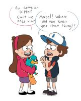 Gravity Falls with Perry the Platypus by GravityFallsOregon