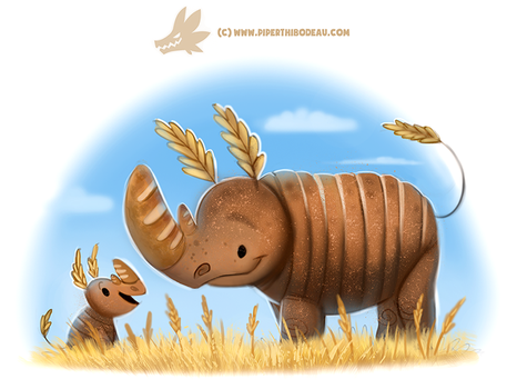 Daily Paint #1231. Ryeno by Cryptid-Creations