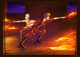 Fire bending by merry-zazoue