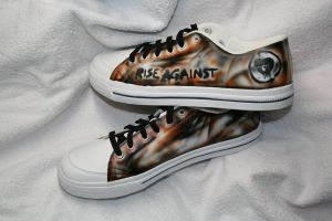 Rise Against -themed shoes by Innom