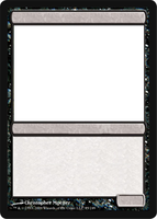 MTG Blank black card. by GrowlyDave