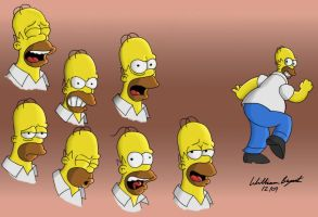 The Moods of Homer 2 by greyfoxdie85