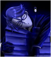 Sleeping Blue Ronnie by fallnangeltears