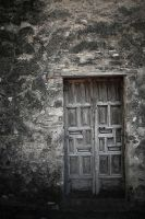old wood door by downbytheriver