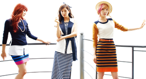 Tiffany Seohyun and Taeyeon (SNSD) PNG Render by classicluv