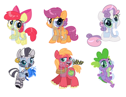 Supporting Cast Shrinkies by JitterbugJive