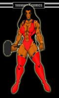 Throwback hero Layla the Savage Hammer by RWhitney75