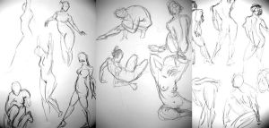 Gesture drawings by Hesstoons