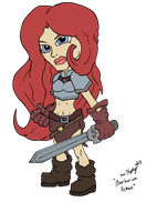 Lil' Fantasy 132 - Barbarian Female by Shapshizzle