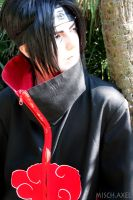 Naruto Shippuuden: Itachi cosplay looking far away by MischievousBoyAilime