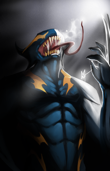 Symbiote Wolverine by AMO17