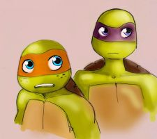 mikey and donnie by yinller