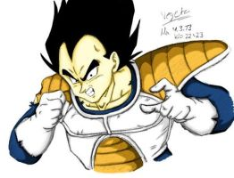 Vegeta 04-03-2013 Colored by VegetasLittleLover
