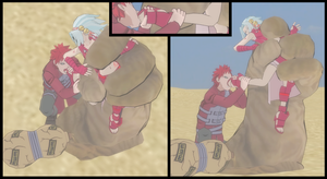 Gaara wants Kagura's Narutoes! by VoreQ