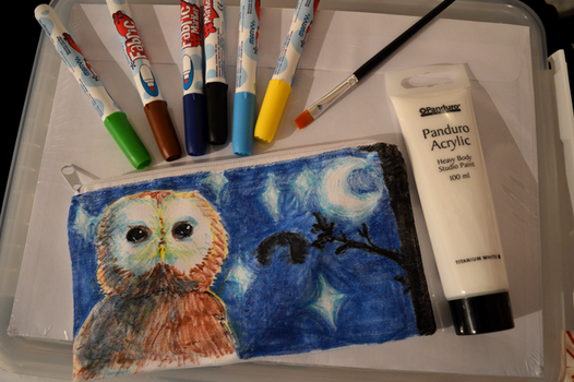 Night Owl pencil case by EmmieSensei