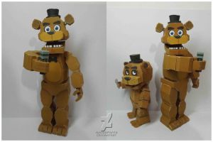 five nights at freddy's Freddy Fazbear papercraft by Adogopaper