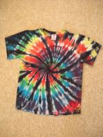Striped Rainbow Spiral Tie-Dye by Spudnuts