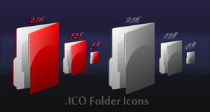 Red and black folder icons by HellHoundx666