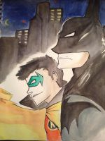 Batman and Son by SixthEdtion