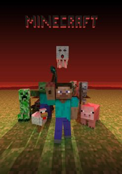 Minecraft poster by Andrey-S