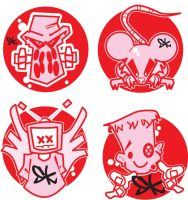 Sticker Designs by Tooseyboy