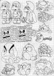 Super Mario 3D Land Enemies Doodles (Part 3) by SuperLakitu