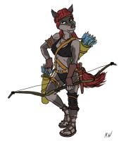 Wolf Woman Archer by Mars-Walker