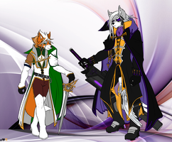Emperor Wolfus O'Donnell and King Fox McCloud by Rath-Raholand