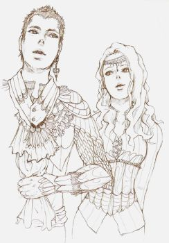 The Warrior Couple sketch by kago-woo