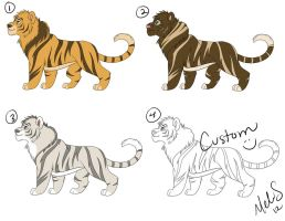 Liger Adoptables batch 1 by Miss-Melis