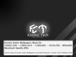 Kosmic Kubes Wallpapers BW by crank89