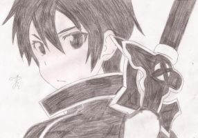 Kirito Kun(Colored) by GiannisXD55