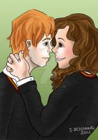 Ron and Hermione by Sacari