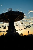 Swings at sunset by MadScientistVX
