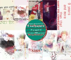 Happy the Nine Anniversary TVXQ + PSD by BiLyBao