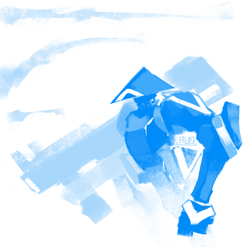 Blue bot by Aw0