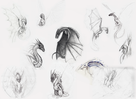 Traditional dragons by Loreen94