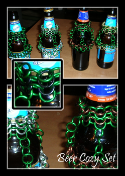 Chainmail Beer Cozy Set by Swordgleam