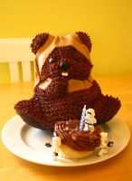 Ewok Birthday Cake by AntVar