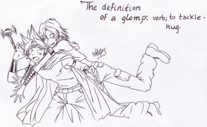The Definition of a Glomp by Meeps