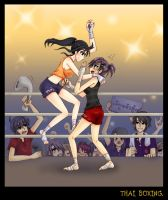 Thai Boxing by LadyGreanlnw