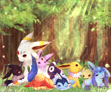 EONs and EEvEE COMMISSION by Effier-sxy